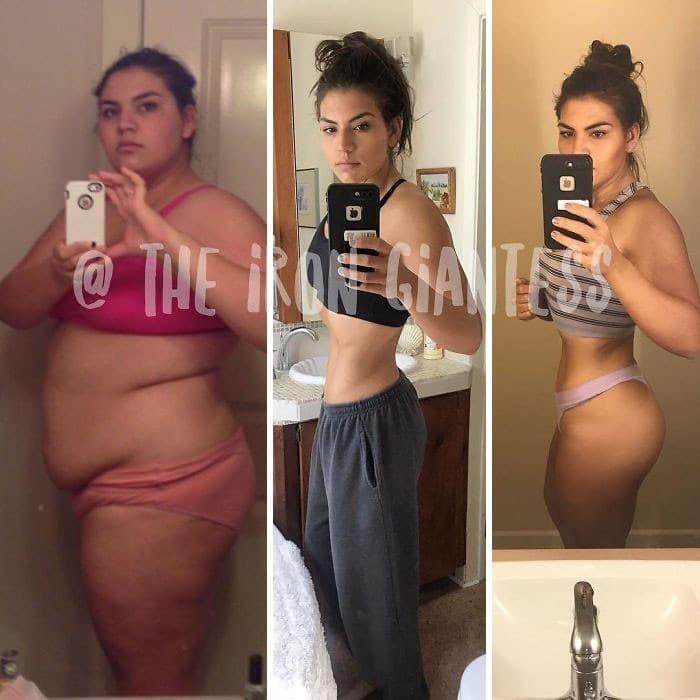 22χρονη που ζύγιζε 137 κιλά αποκάλυψε τι αλλαγή έκαναν 3 χρόνια γυμναστικής στο σώμα της - Εικόνα 12