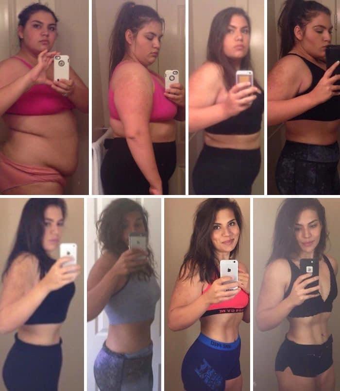 22χρονη που ζύγιζε 137 κιλά αποκάλυψε τι αλλαγή έκαναν 3 χρόνια γυμναστικής στο σώμα της - Εικόνα 20