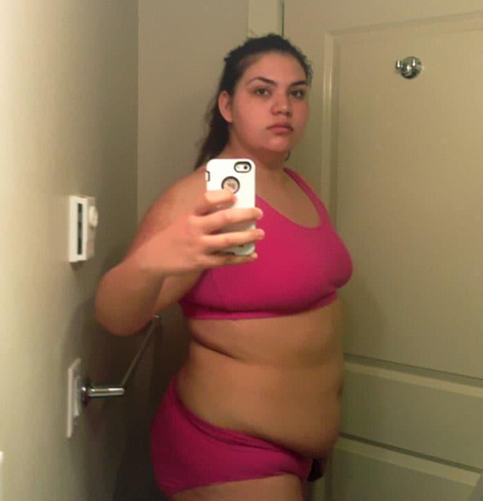 22χρονη που ζύγιζε 137 κιλά αποκάλυψε τι αλλαγή έκαναν 3 χρόνια γυμναστικής στο σώμα της - Εικόνα 4